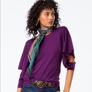 Purple Long Sleeve Dress Top